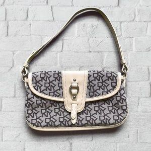 DKNY Monogrammed Brown/Beige Shoulder/Handbag